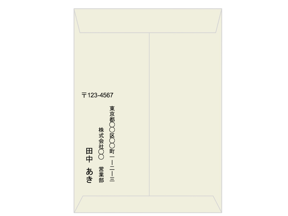 封筒の宛名の書き方