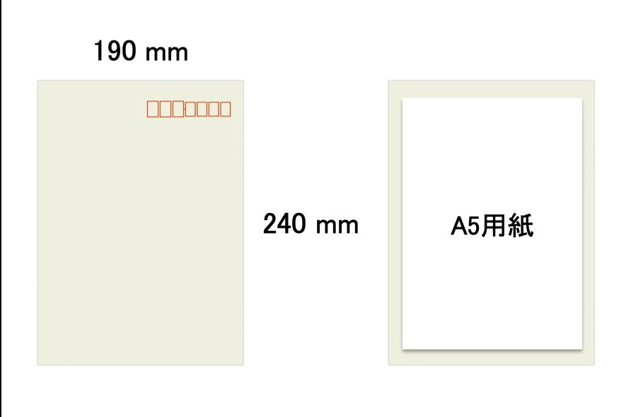 角形5号の封筒サイズ